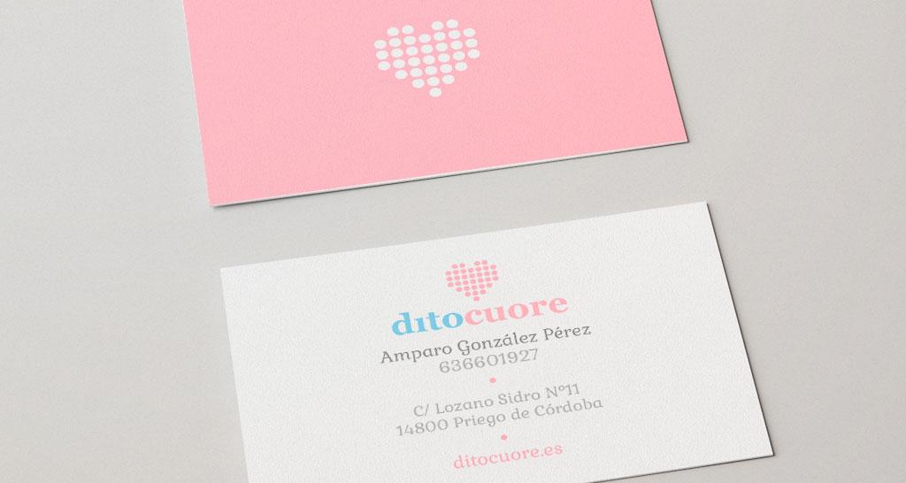 implantacion en tarjetas del logotipo ditocuore