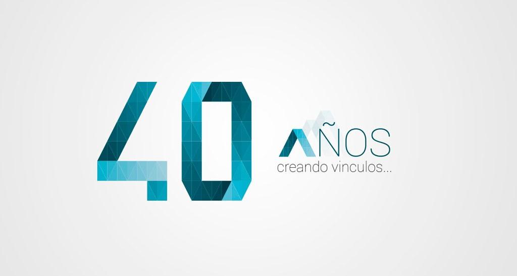 logotipo 40 aniversario IDR restyling